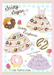 Cute Doughnut Gingham Concept by decora-rockstar
