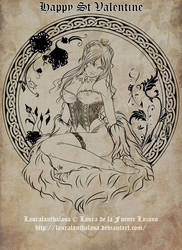 St Valentine: Kiss me by Lauralanthalasa
