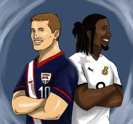 USA vs Ghana by nimtaril