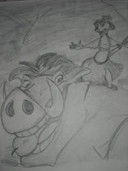 Timon and Pumba by Alana1991