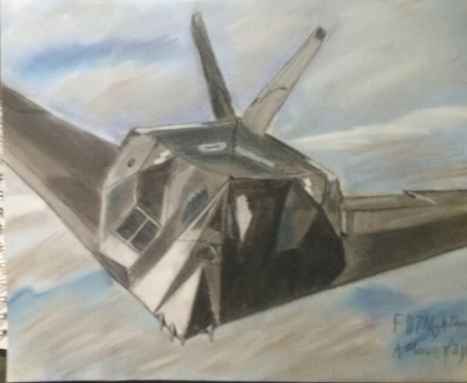 F 117 Stealth Fighter Drawing F-117 Nighthawk Stealt...