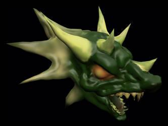 Dragon Head by sid-raphael