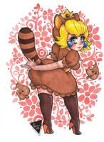 Princesa Peach disfraz Tanuki by Karenali