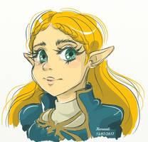 Princesa Zelda Sketch - Breath of the Wild by Karenali