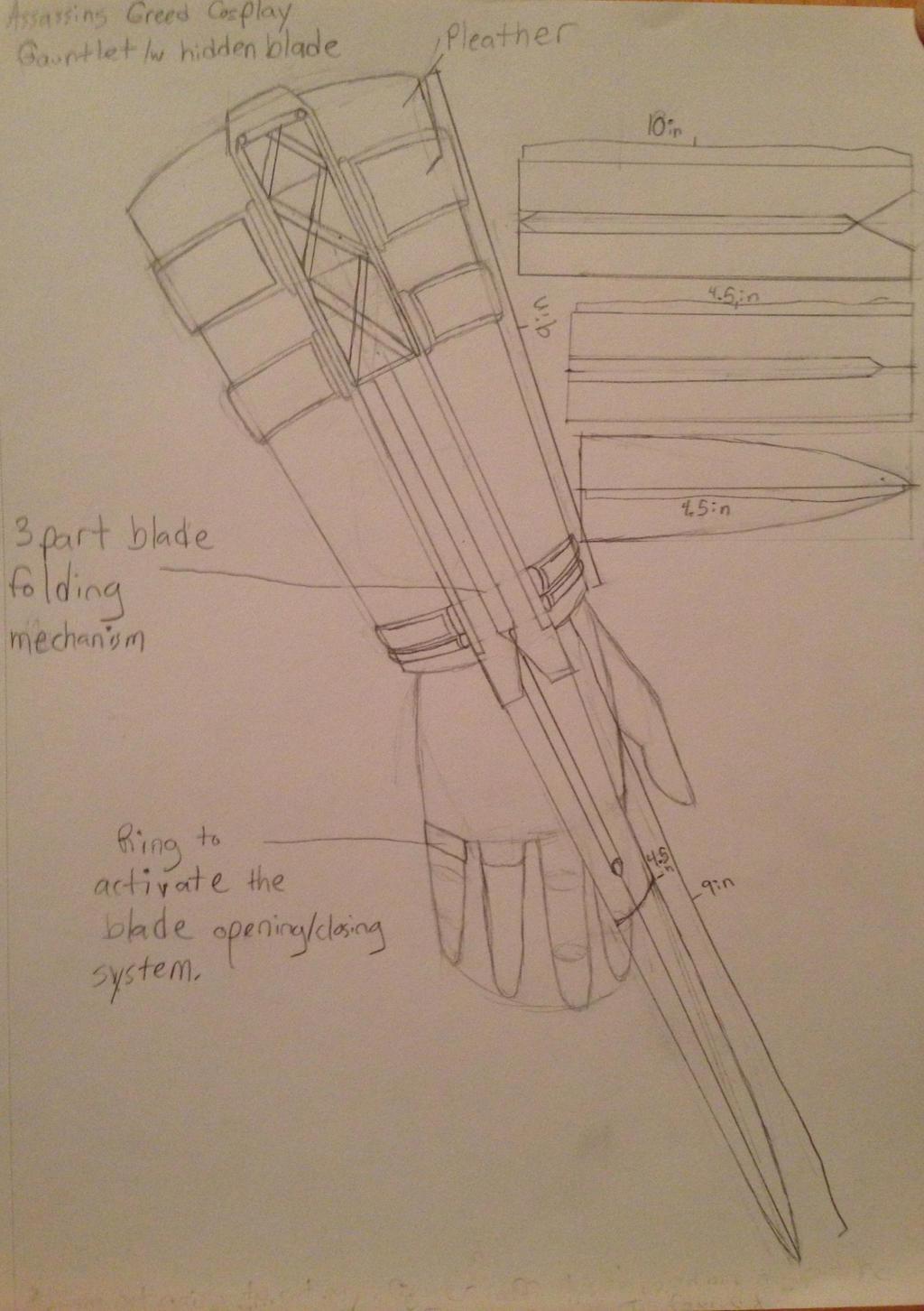 Hidden Blade Diagram Funny Wiring Diagrams Assassin Assassins Creed Gauntlet Design By Faithhollow