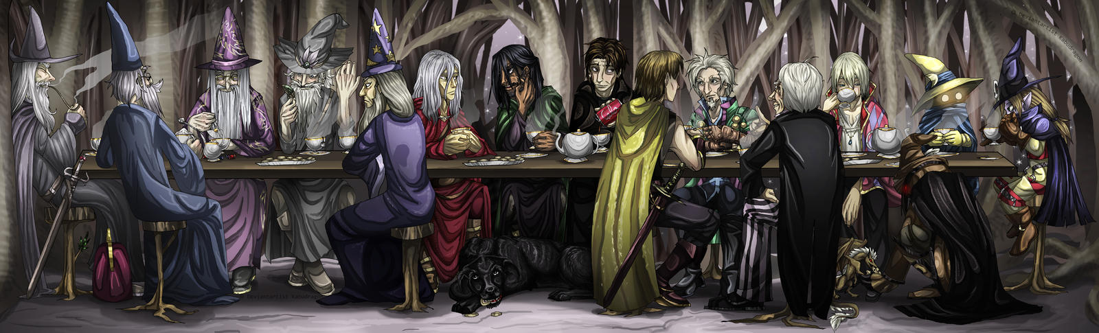 A Wizard Tea Party by Kabudragon
