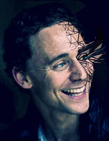 Tom Hiddleston: Polygon Portrait by Kabudragon