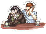Loki and Tom : Sharing a Brew