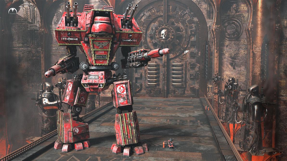 Legio Invicta Warlord Titan: Guarding the Forge by taumich