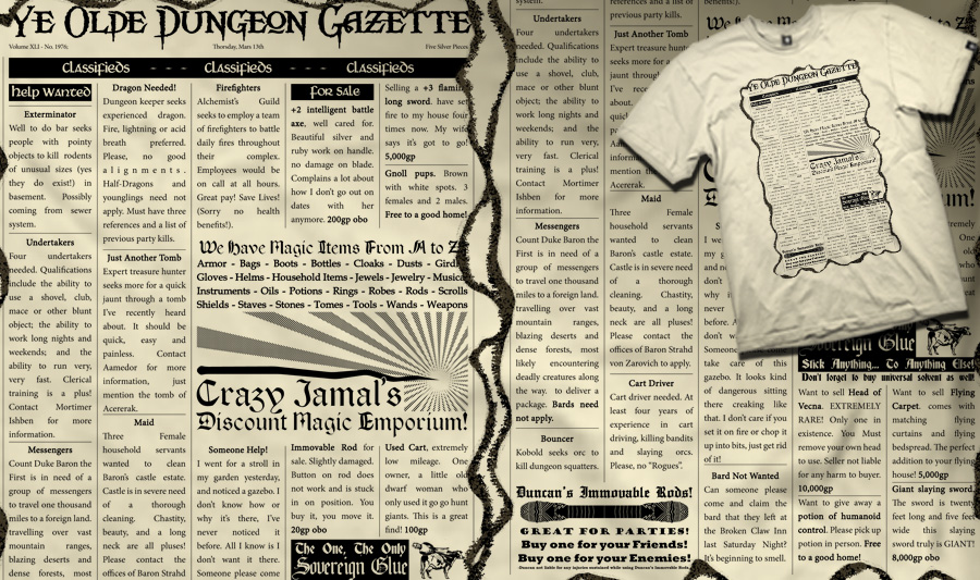 Ye Olde Dungeon Gazette