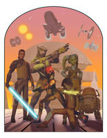 Vintage Style Ralph McQuarrie Rebels Poster by Brian-Snook