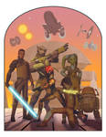 Vintage Style Ralph McQuarrie Rebels Poster
