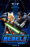 Ahsoka and Lux (Star Wars Rebels Concept Poster)