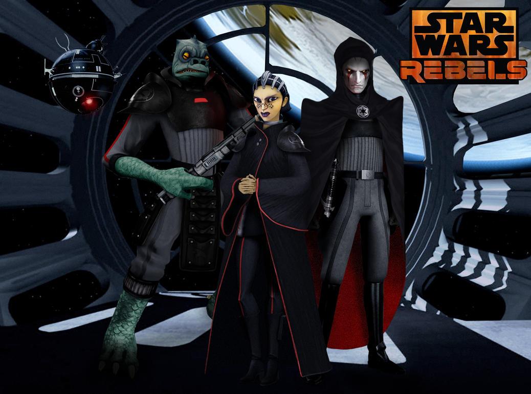 meet your inquisitors star wars rebels fan art by brian