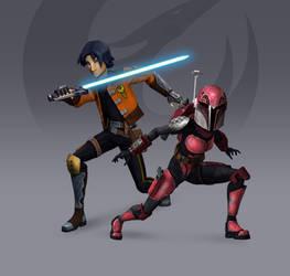 Ezra + Sabine - Rebels Season 3 Redesign (Fan Art)