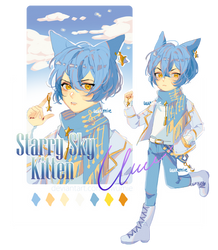 Adopt [CLOSED] Starry Sky Kitten [w/ PIXEL ICON] by uwumie