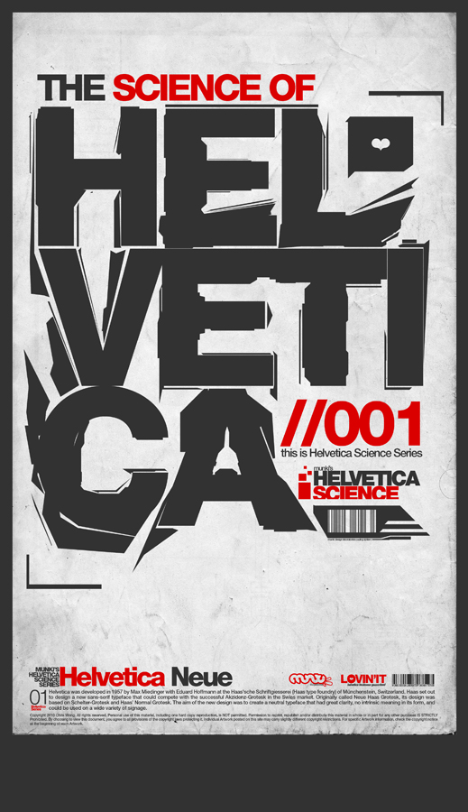 Helvetica Science Series 001 by LouieHitman