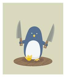 Knifey Penguin by mrtnmccn