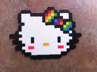 Hello Kitty Perler by Number1HinataFan2