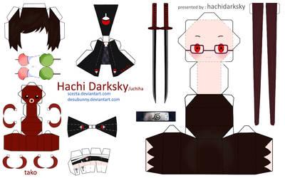 Hachi Darksky Papercraft by ScezTa