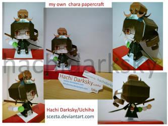 Hachi Darksky Papercraft fin by ScezTa