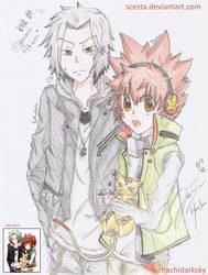 Tsuna, Gokudera, and Uri by ScezTa