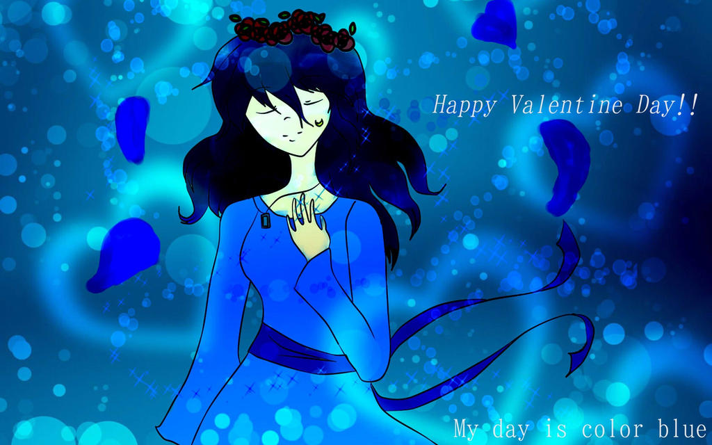 Make me Valentine in blue by valeanimegirl97