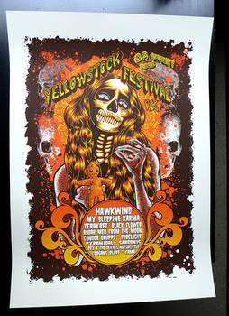 Yellowstock festival 2015 Silkscreen poster