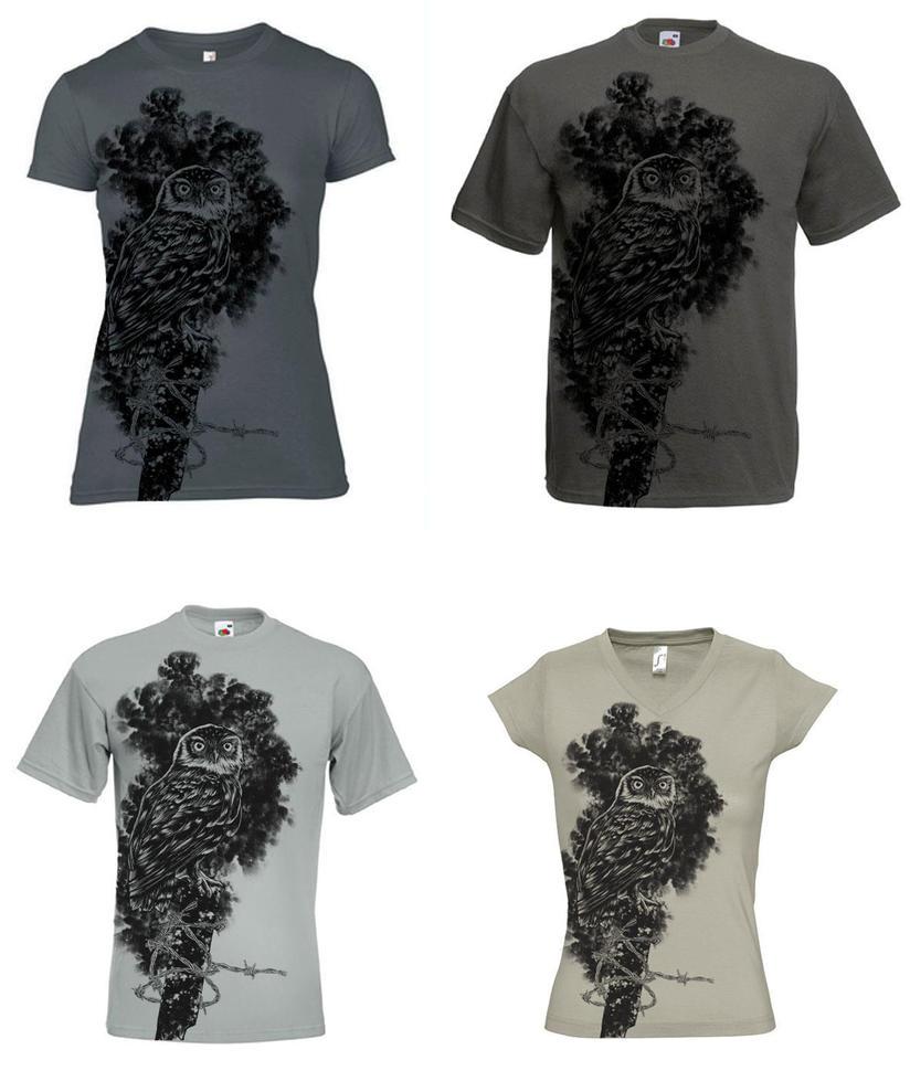 The Owl T-shirt by Johannahoj