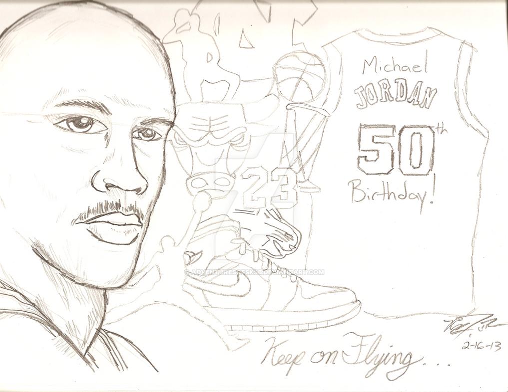Michael Jordan 50th Wallpaper: Michael Jordan's 50th Birthday! By AdventuresofSKSB On