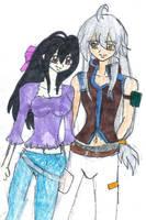 Tsubasa and Victoria by YuzuErinaVictoria