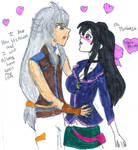 Tsubasa told his feeling for Victoria