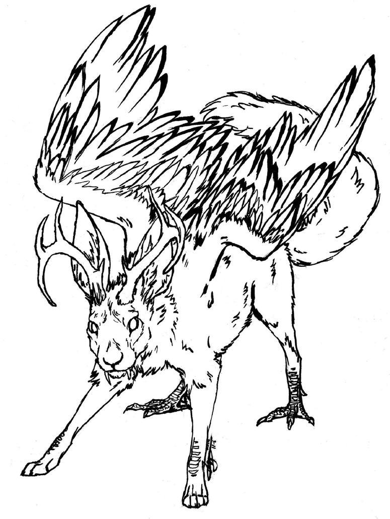 Pg 6/6. Wolpertinger by Hawkpath-tail