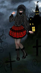 Gothic Lolita dress up by Usaporkchops