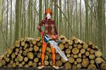 Elisa May Jacobs woodcutting