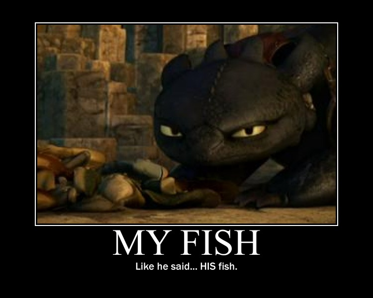 Toothless and his Fish by 6SeaCat9