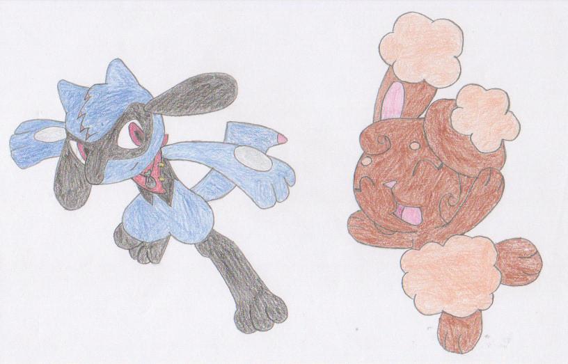 Pokemon Characters: Sweeney and Gigi by 6SeaCat9