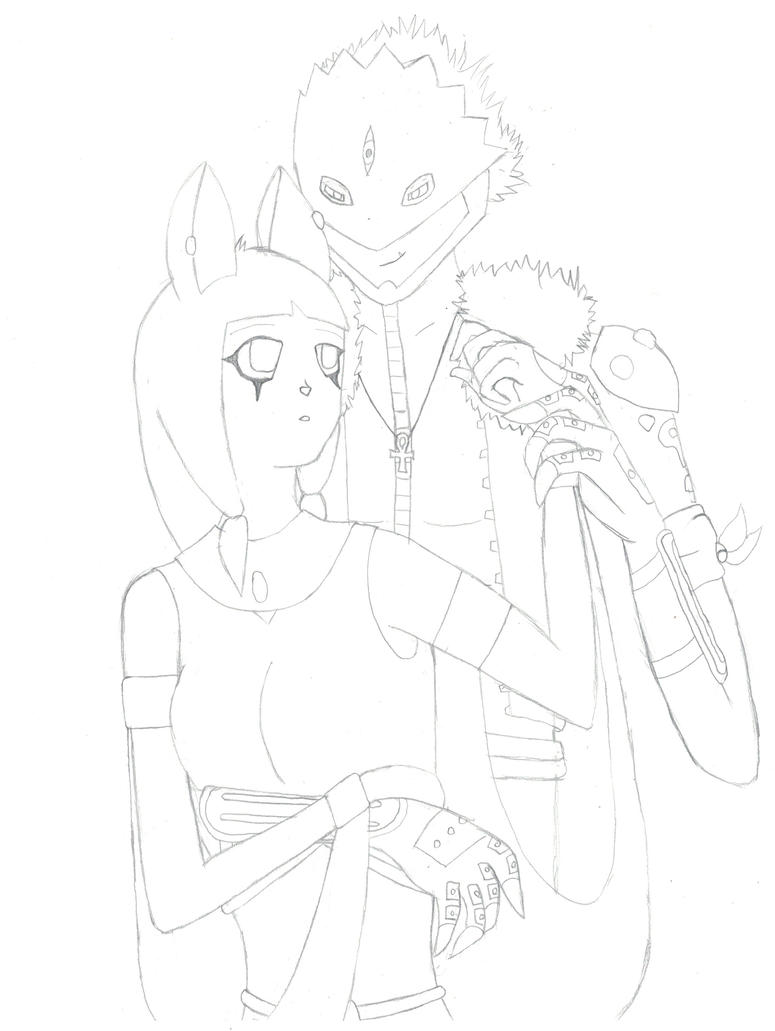 Us Two .:Lineart:. by 6SeaCat9