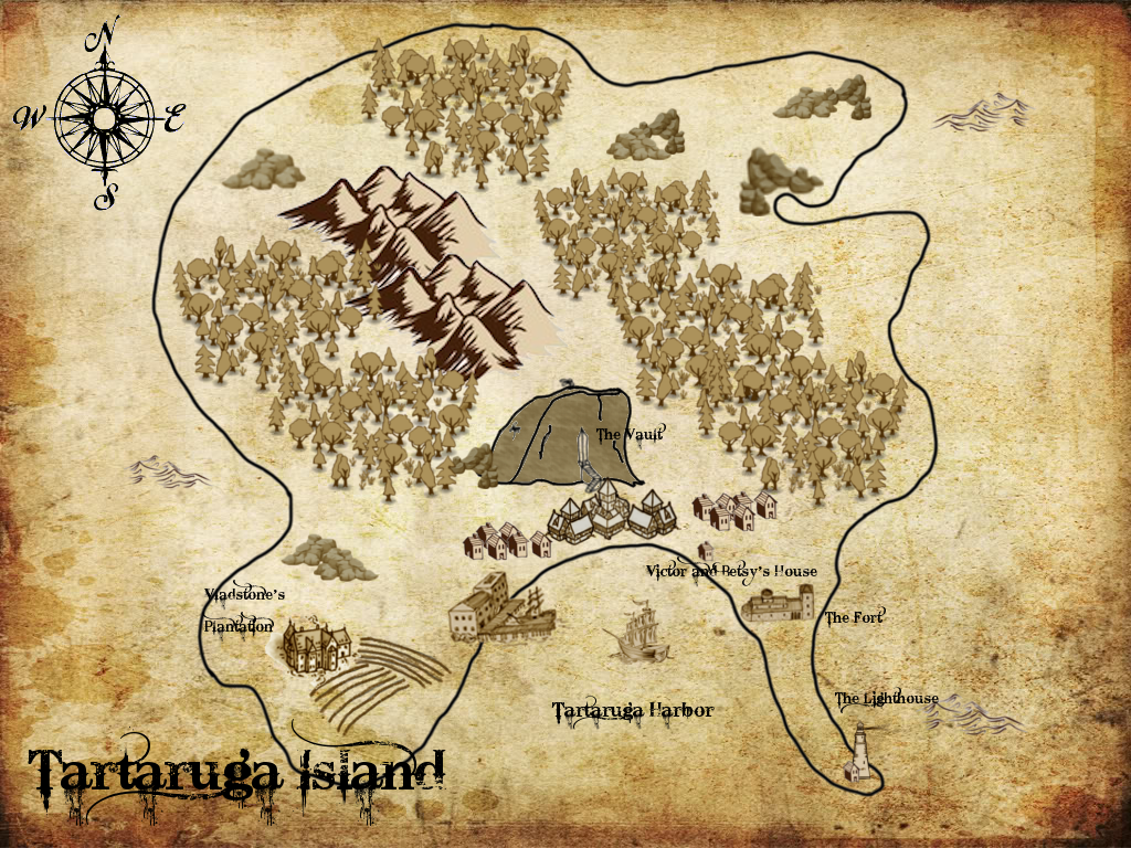 Map of Tartaruga by 6SeaCat9