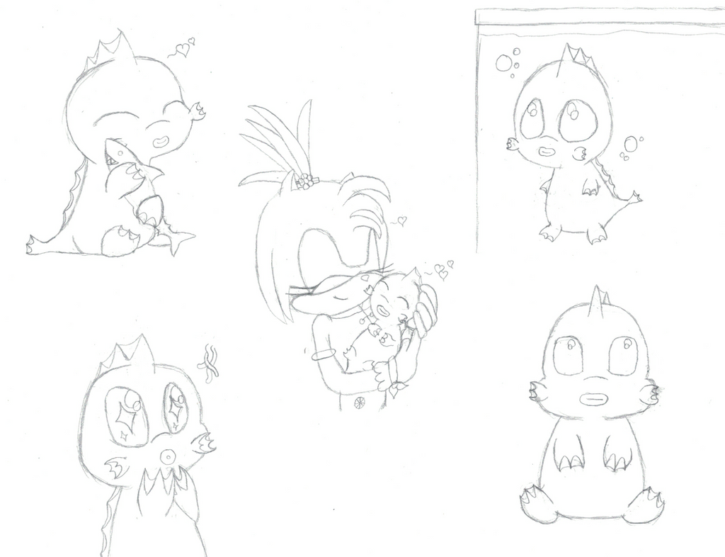 Squirt Doodles .:Lineart:. by 6SeaCat9