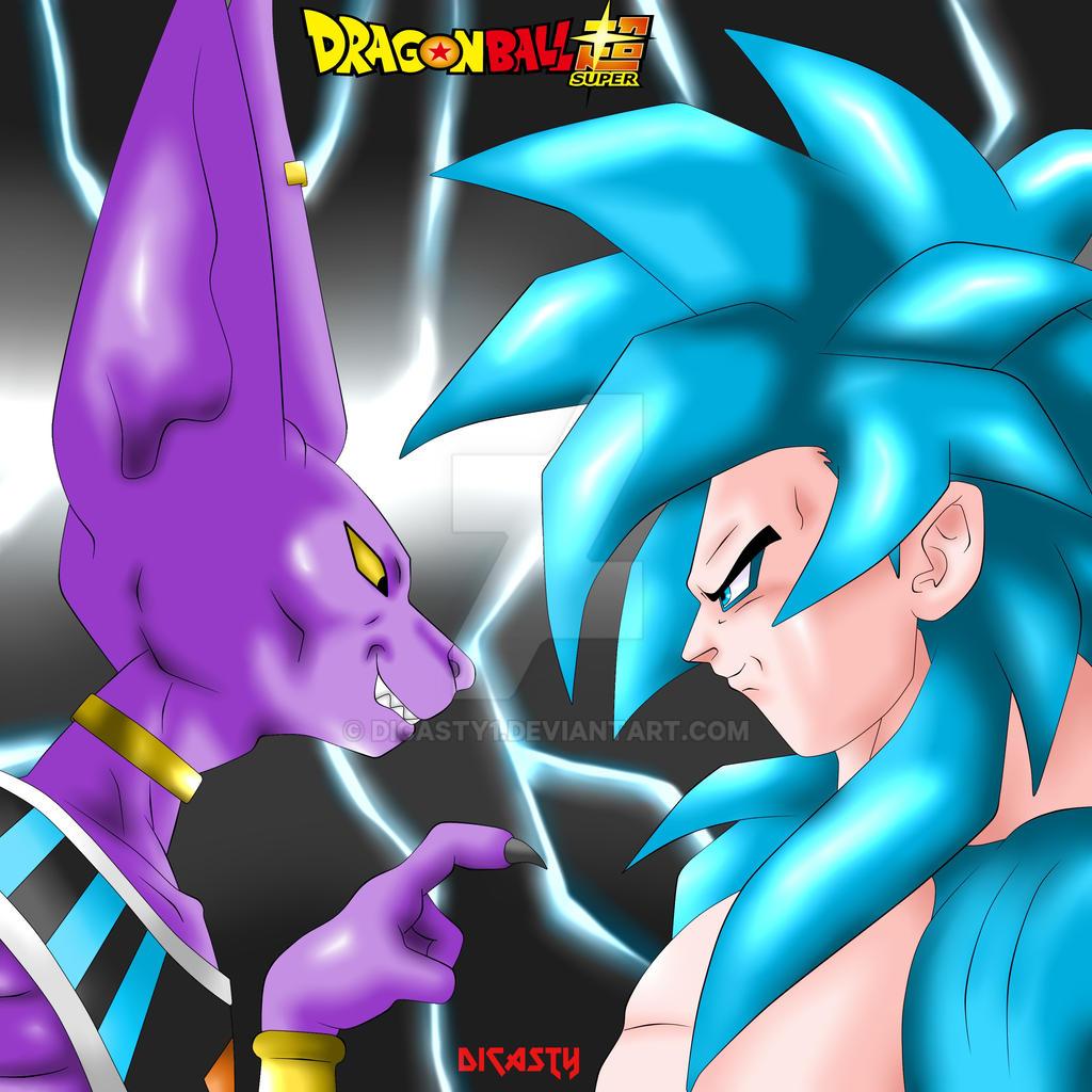 Bills Vs Goku SSJ 4 Dios Azul by dicasty1 on DeviantArt