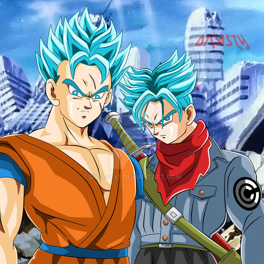 Trunks Y Gohan Del Futuro SSJ Dios Azul By Dicasty1 On