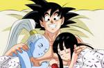 Goku Vados y Milk una larga noche