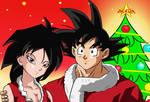 Goku y Gine Feliz Navidad.