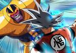 Thanos versus Goku Ultra Instinto