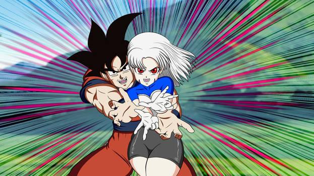 Goku entrenando a Bea