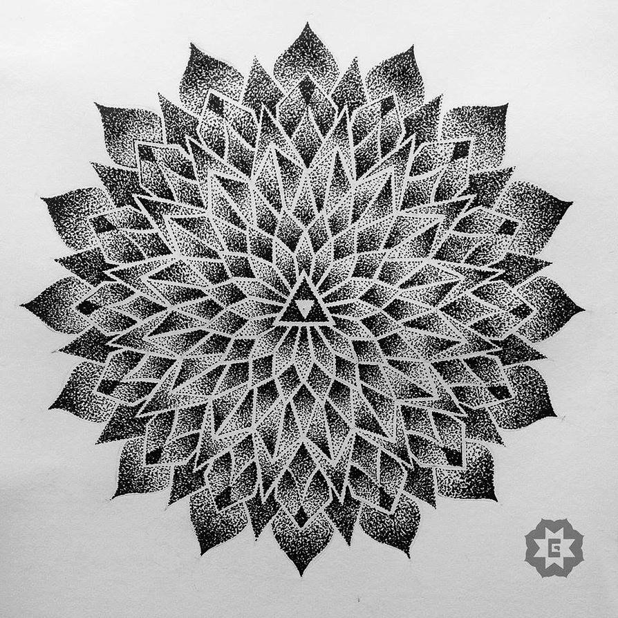 Dotwork Mandala By Jgustavobrandao On Deviantart