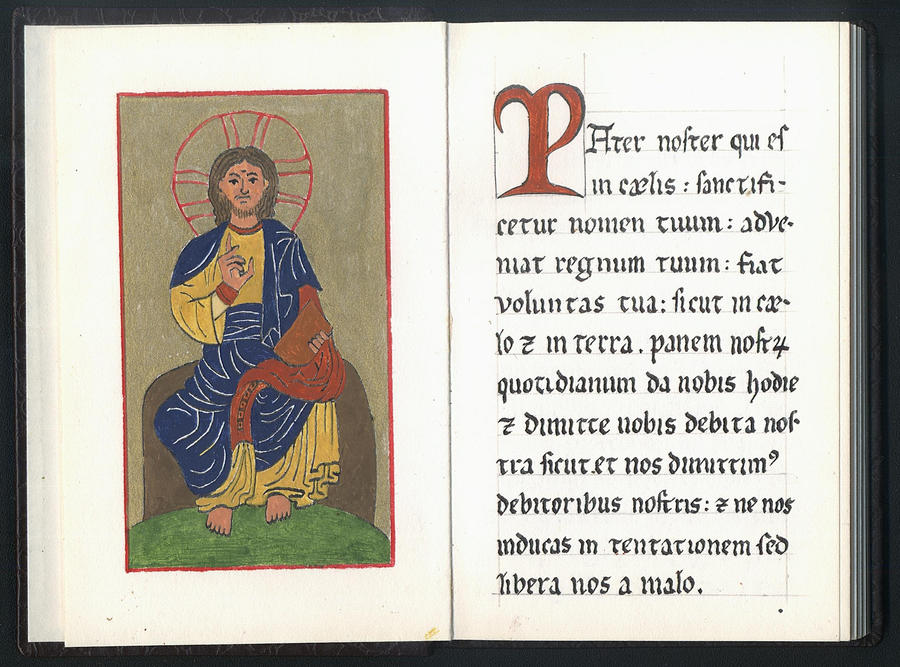 A booklet of medieval comments to the Pater Noster by ... Christ As Pantokrator