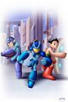 Megaman, Combatron, Astroboy
