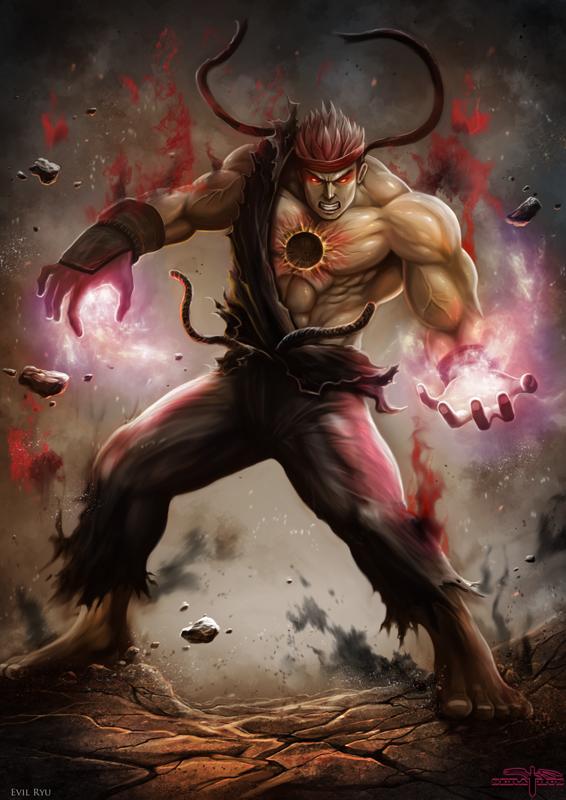 Evil Ryu By Serathus On Deviantart